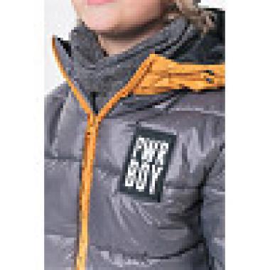Куртка для мальчика Boom by Orby (графит/оранжевый), 1,5 года - 15 лет
