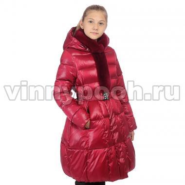 Зимнее пальто KIKO для девочки ЛЮБА (бордо), 8-12 лет