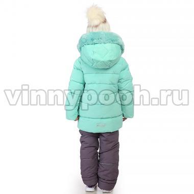Купить Зимний комплект Kiko для девочки ТАЯ (мята/серо-сиреневый), 3-8 лет