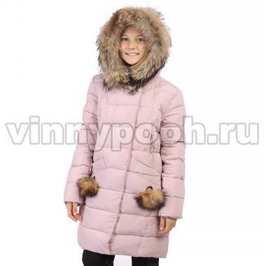 Зимнее пальто KIKO для девочки ЗАРИНА (розовый), 9-14 лет