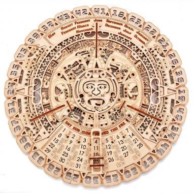Механическая сборная модель Wood Trick Календарь Майя