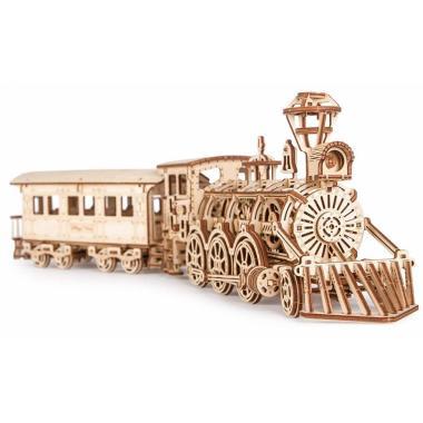 Механическая сборная модель Wood Trick Локомотив R17 с рельсами