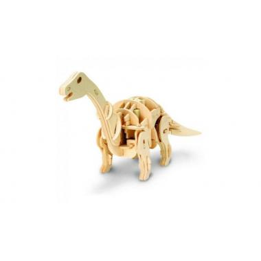 Апатозавр. Деревянный конструктор с мотором, звуковой контроль для движения