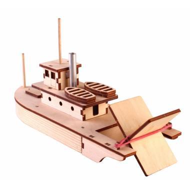 Конструктор-набор для сборки Пароход на резиномоторе