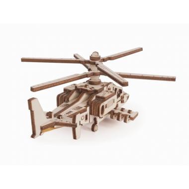 Конструктор 3D деревянный Lemmo Вертолет Акула