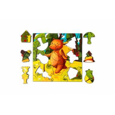 """Деревянный пазл-головоломка Mr.Puzz """"Маша и Медведь"""""""