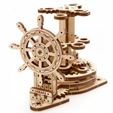 3D-пазл механический из дерева UGears - Штурвал-Органайзер