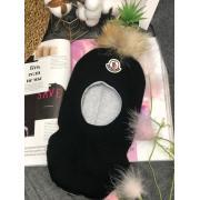 Зимняя шапка-шлем для мальчика (черный), 2-5 лет