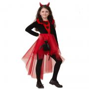 """Детский карнавальный костюм """"Дьяволица"""", 4-12 лет"""