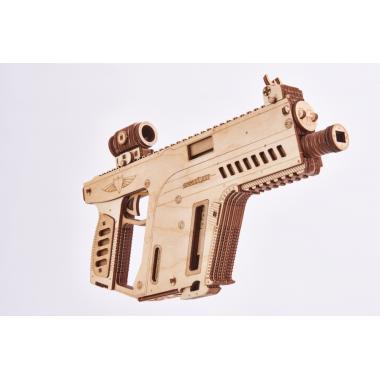 Механический 3D-пазл из дерева Wood Trick Штурмовая винтовка