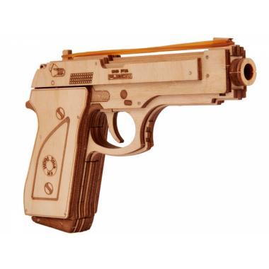 3D-пазл из дерева Wood Trick Пистолет-резинкострел с мишенями
