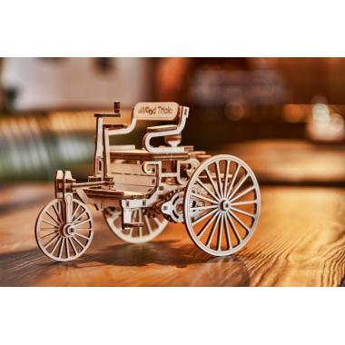 Механический 3D-пазл из дерева Wood Trick Первый автомобиль