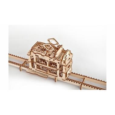 3D-пазл механический UGears - Трамвай с рельсами