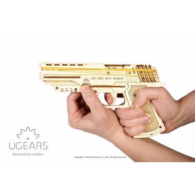 3D-пазл механический Ugears - Пистолет Вольф-01