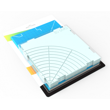 Силиконовый коврик + брошюра с 12 трафаретами