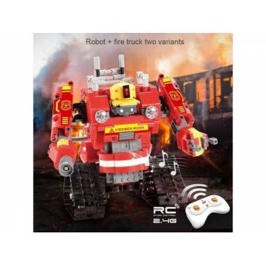 Радиоуправляемый конструктор CADA 2 в 1 пожарный робот-трансформер (538 деталей)