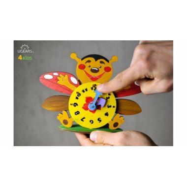 Раскраска 3D из дерева UGears 4kids - Часы