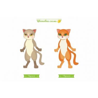 """Игра-раскраска из дерева Lemmo """"Кошка-Даша"""""""