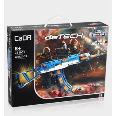 Конструктор Cada Technics, автомат АК-47, 498 деталей - C81001W