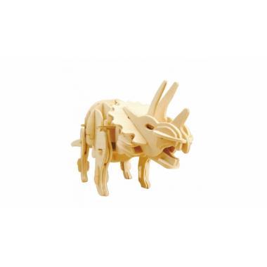 Трицератопс. Деревянный конструктор с мотором, звуковой контроль для движения