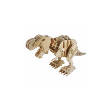Тираннозавр. Деревянный конструктор с мотором, звуковой контроль для движения