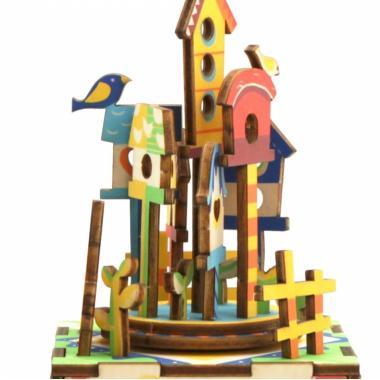 """Деревянный 3D конструктор - музыкальная шкатулка Robotime """"Замок в небесах"""""""
