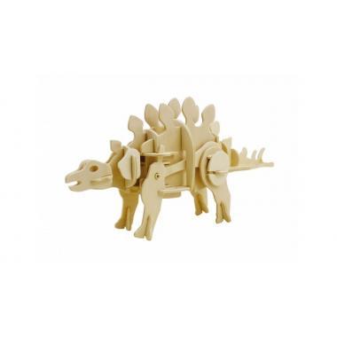 Стегозавр. Деревянный конструктор с мотором, звуковой контроль для движения