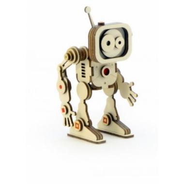 Конструктор 3D деревянный подвижный Lemmo Робот Флеш