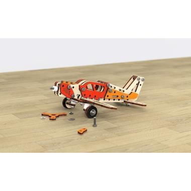 Конструктор 3D деревянный винтовой M-WOOD Самолет