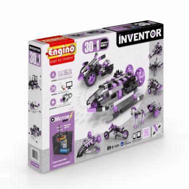 Конструктор с мотором Engino INVENTOR. Набор из 30 моделей. Приключения