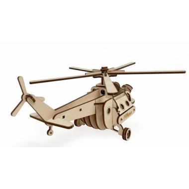 """Конструктор 3D деревянный подвижный Lemmo Вертолет """"МИшка"""""""