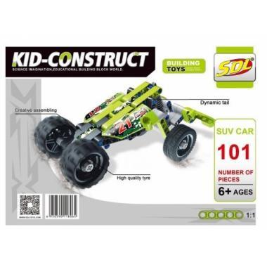 """3D-Конструктор SDL KID-CONSTRUCT """"Кроссовер зеленый, 101 дет."""""""
