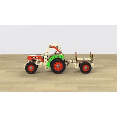 Конструктор 3D деревянный винтовой M-WOOD Трактор Фермер