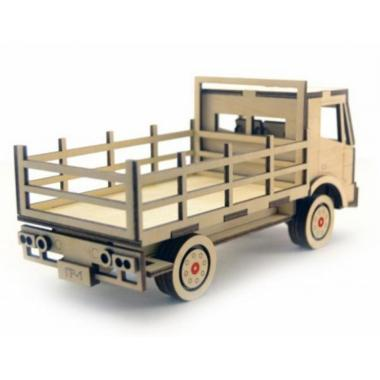 Конструктор 3D деревянный подвижный Lemmo Грузовик с кузовом