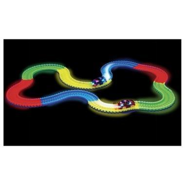 Конструктор-трасса Magic Tracks светящийся 220 деталей (2 машинки + русская упаковка)