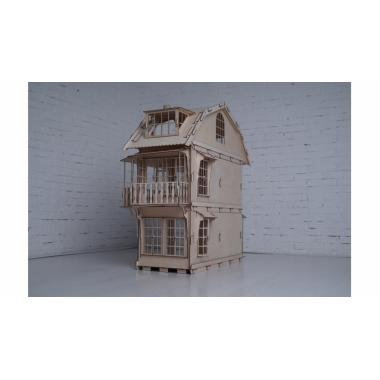 Конструктор 3D деревянный Lemmo Большой дом для кукол