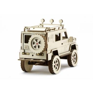 Конструктор 3D деревянный подвижный Lemmo Внедорожник Спорт