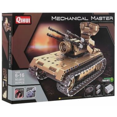 Конструктор QIHUI с мотором и радиоуправлением Противовоздушный танк, 457 деталей