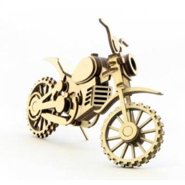 Конструктор 3D деревянный подвижный Lemmo Мотоцикл Кросс