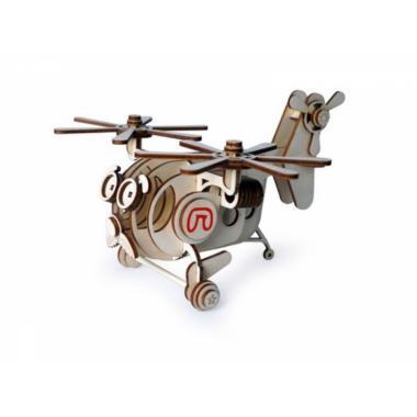 Конструктор 3D деревянный подвижный Lemmo Вертолет Палыч