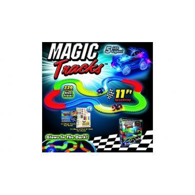 Конструктор-трасса Magic Tracks светящийся 220 деталей