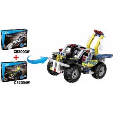 Конструктор Cada Technics, квадроцикл, 164 детали, инерционная модель - C52004W