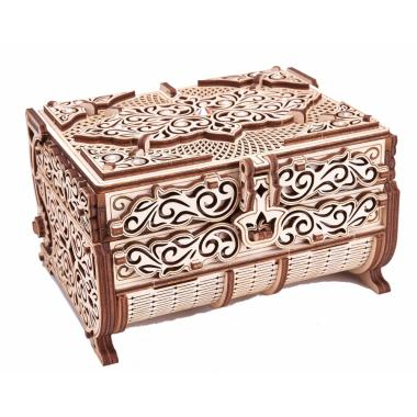 Cборная модель Wood Trick Шкатулка, декорированная кристаллами Swarovski ®