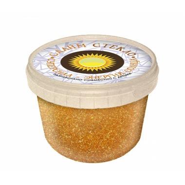 """Слайм """"Стекло"""" с неоновыми оранжевыми блестками, 100 гр"""