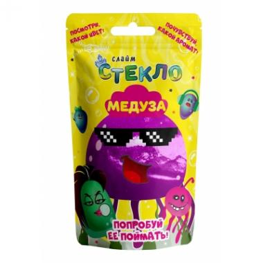"""Слайм Стекло """"Медуза"""" фиолетовый неон 0,150 кг в дой-паке"""