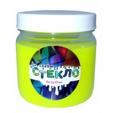Слайм Стекло серия Party Slime, желтый неон, 400 гр