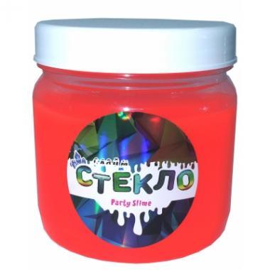 Слайм Стекло серия Party Slime, красный неон, 400 гр