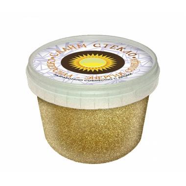 """Слайм """"Стекло"""" с золотыми блестками, 100 гр"""