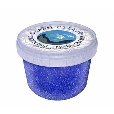 """Слайм """"Стекло"""" с синими блестками, 100 гр"""