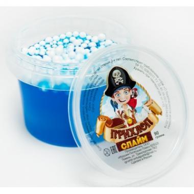 Слайм Прихлоп пират СИНИЙ с шариками, 90 гр